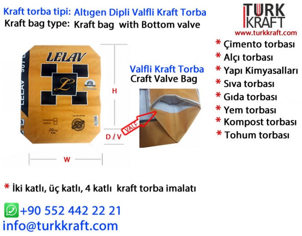 Kraft Sıva Torbası Kraft Torba
