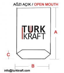 Kraft Torba Ağzı Açık Kraft Torba