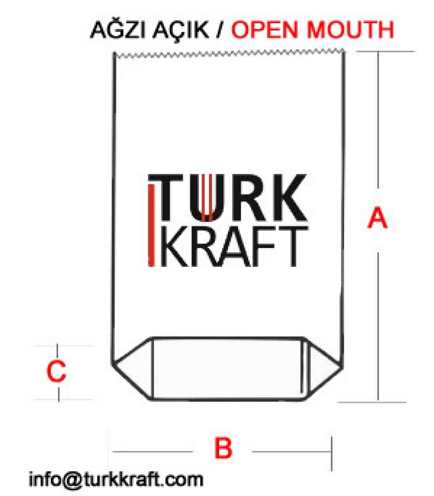 Ağzı Açık Körüklü Dipli Kraft Torba Kraft Torba Kraft Kağıt Çimento Torbası