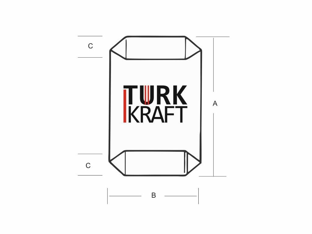 Dipli Valfli Kraft Torba Kraft Torba Kraft Kağıt Çimento Torbası