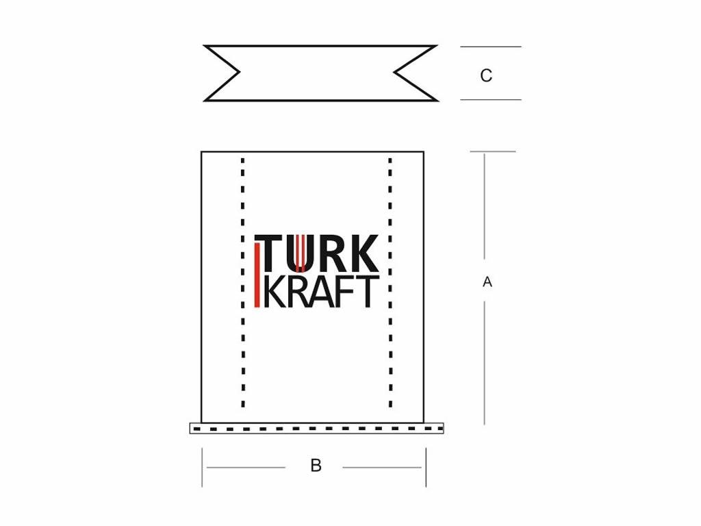Valfli Altıgen Dipli Kraft Torba imalatı Kraft Torba Kraft Kağıt Çimento Torbası
