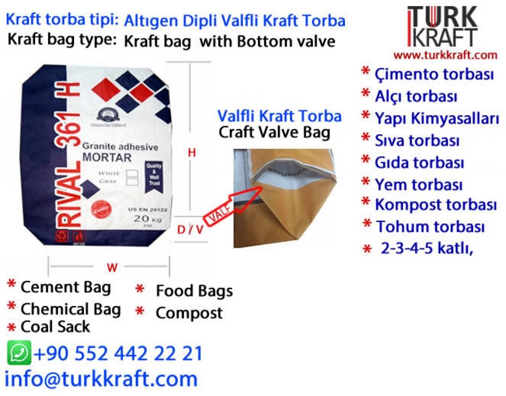 Kraft Fayans Yapıştırıcı Torbası Kraft Torba
