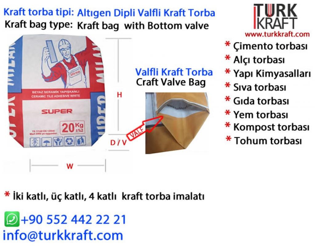 Kraft Harç Torbası Kraft Torba