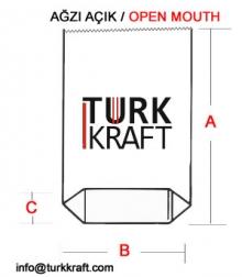 Kraft Torba Ağzı Açık Körüklü Dipli Kraft Torba