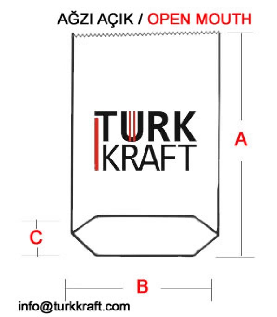 Ağzı Açık Kraft Torba Kraft Torba Kraft Kağıt Çimento Torbası